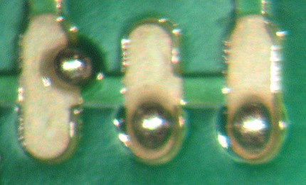 Oxidized pcb surface