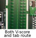 Both tab and  v-score