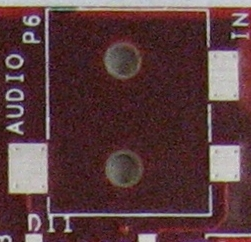 BB Empty pcb via in connector pads