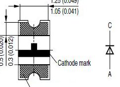 Do not mark diode like this