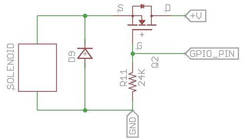 Flyback diode configuration