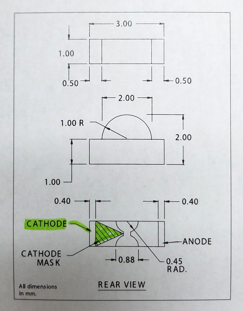Diode funky cathode mark