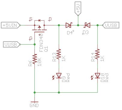 P-Mosfet and barrier diodes